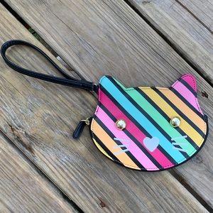 NWOT betsey Johnson Rainbow Cat Wristlet